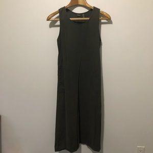 L L bean maxi dress, soft cotton denim dress